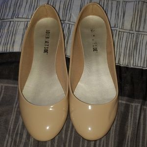 Nude flats for wide feet
